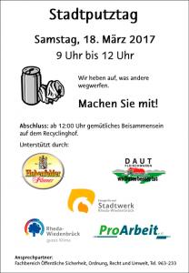 Plakat Stadtputztag 2017